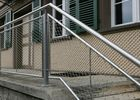 Staircase Infill Stainless Steel Netting Mesh , Balustrade Safety Netting For Stairs
