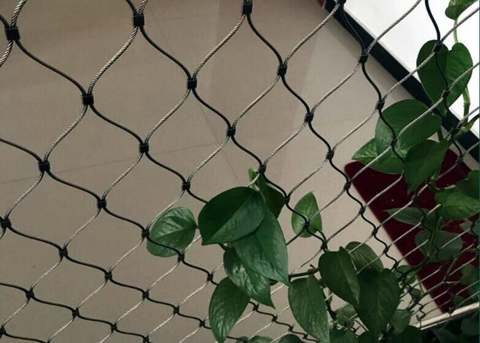 Professional Stainless Steel Webnet , Wire Rope Mesh Netting Corrosion Resistant