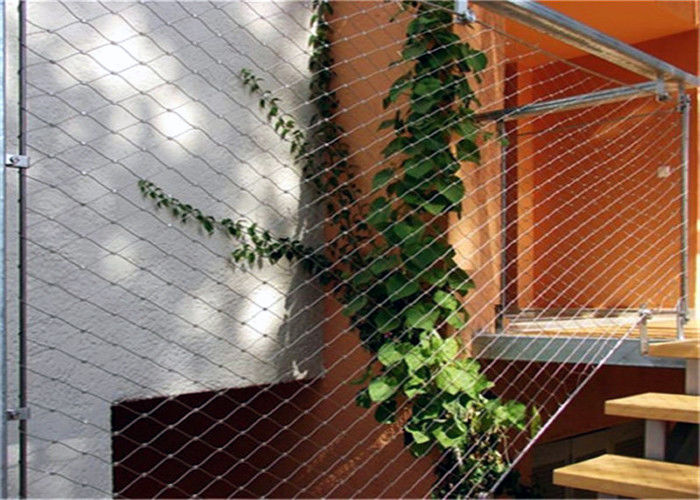 X Tend Green Wall Mesh / Stainless Steel Wire Trellis For Plant Climbing