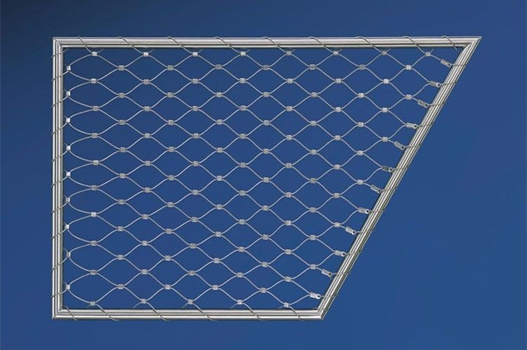 SUS 316 7x7 7x19 Stainless Steel Wire Rope Mesh Fence For Animal Enclosure